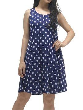 Sleeveless Star Print Dress