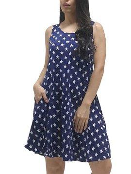 CURVY Sleeveless Star Print Dress