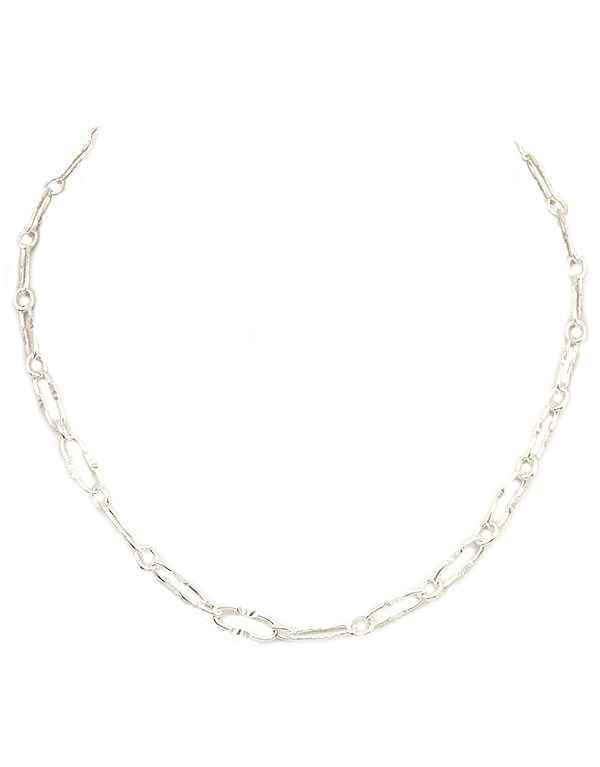 Silver Chain Collar Necklace