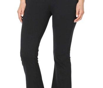Flare Bottom Fold Over Yoga Pants