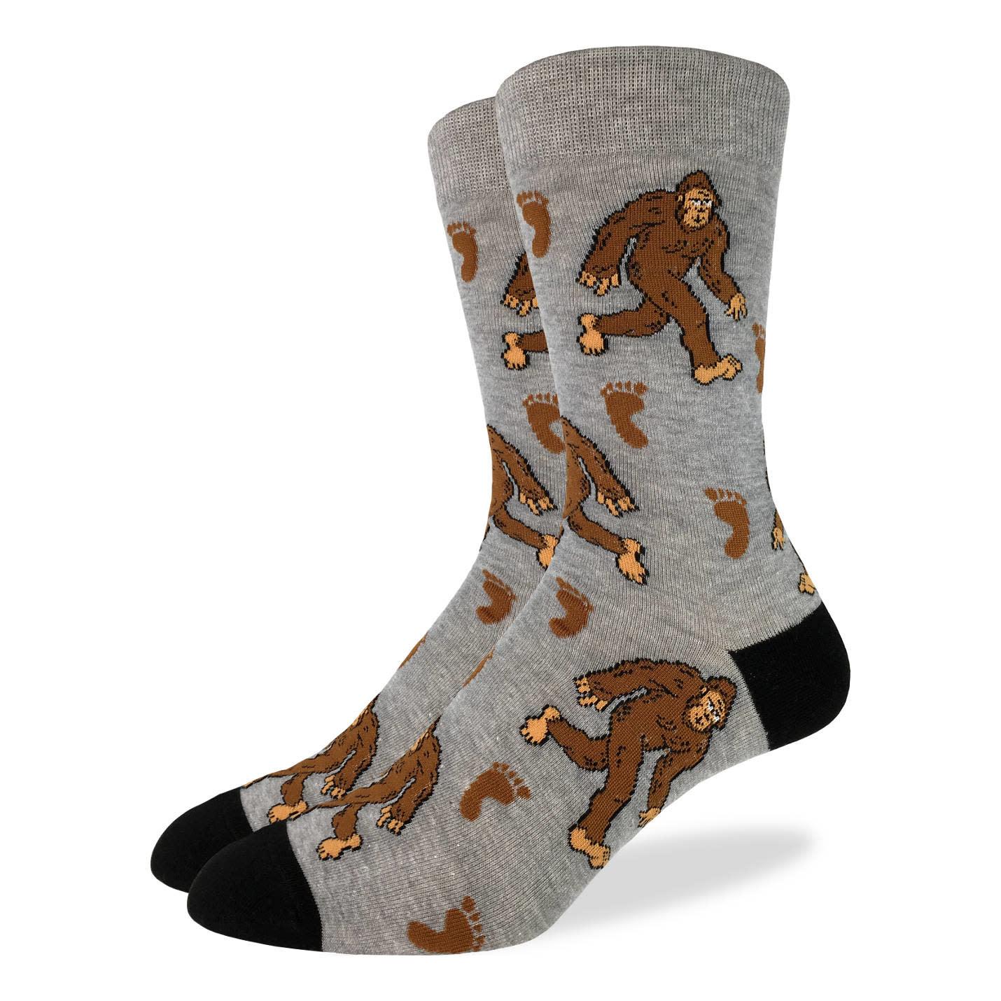 Big & Tall Bigfoot Men's Crew Socks