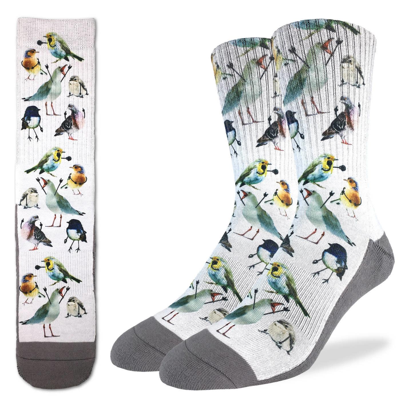 Excited Birds Men's Crew Socks