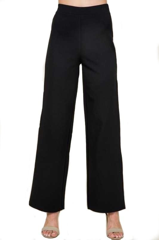 Black Stretch Knit Pants