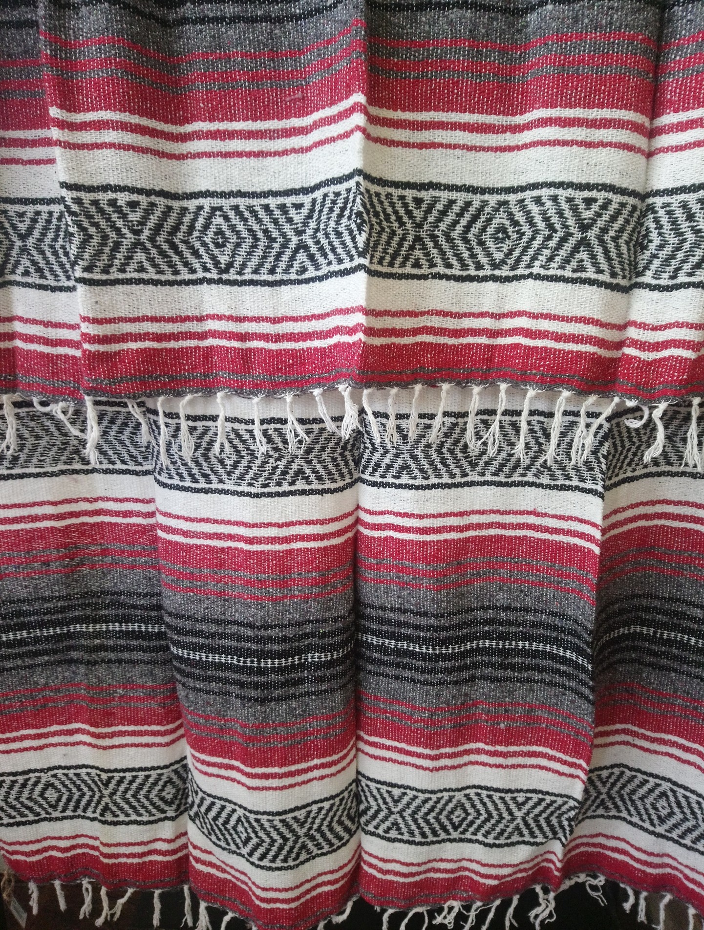 Red + Gray Falsa Blanket