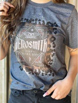 Aerosmith Bleached Graphic T Shirt