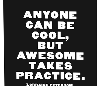Anyone Can be Cool Inspirational Card