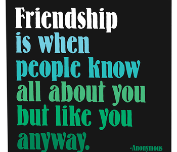 Friendship is When Inspirational Card