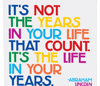 It's Not the Years in Your Life Inspirational Card