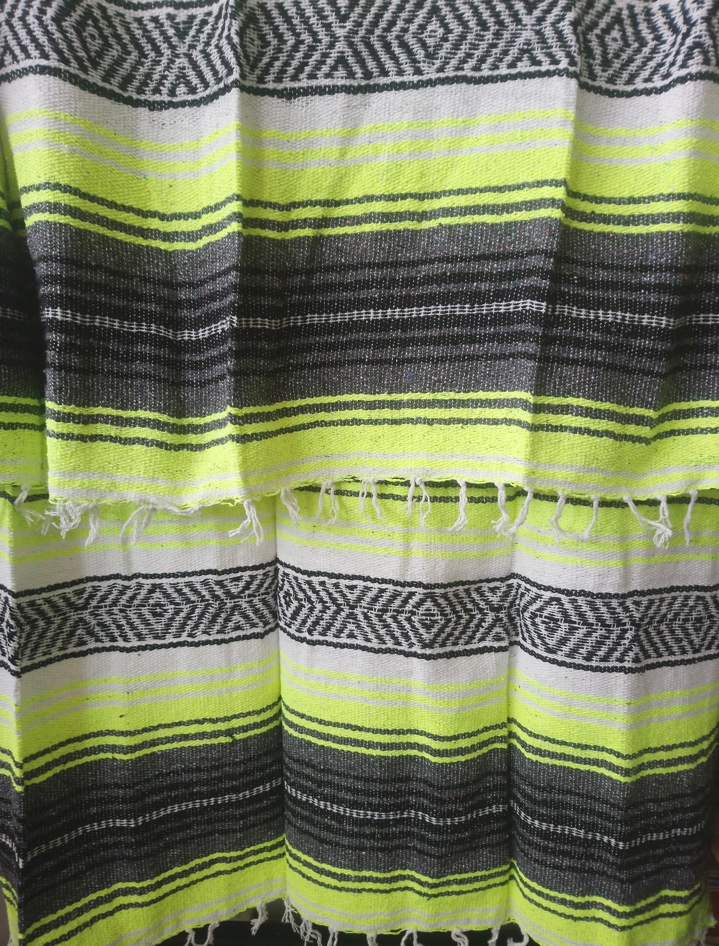 Fluorescent Yellow + Gray Falsa Blanket
