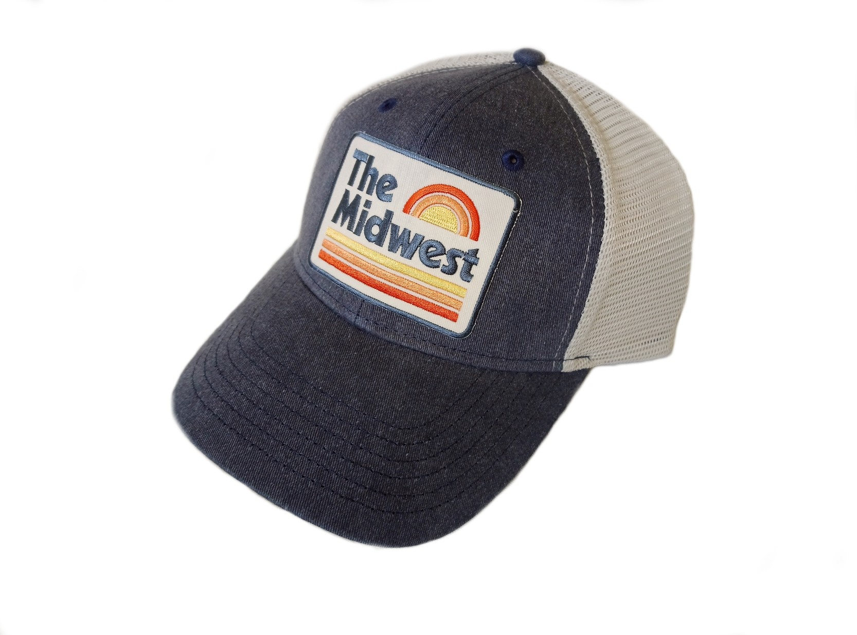 Midwest Vintage Navy Chambray SnapBack Hat