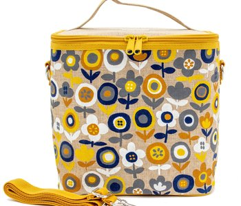 Mod Flowers Cooler Lunch Tote Bag