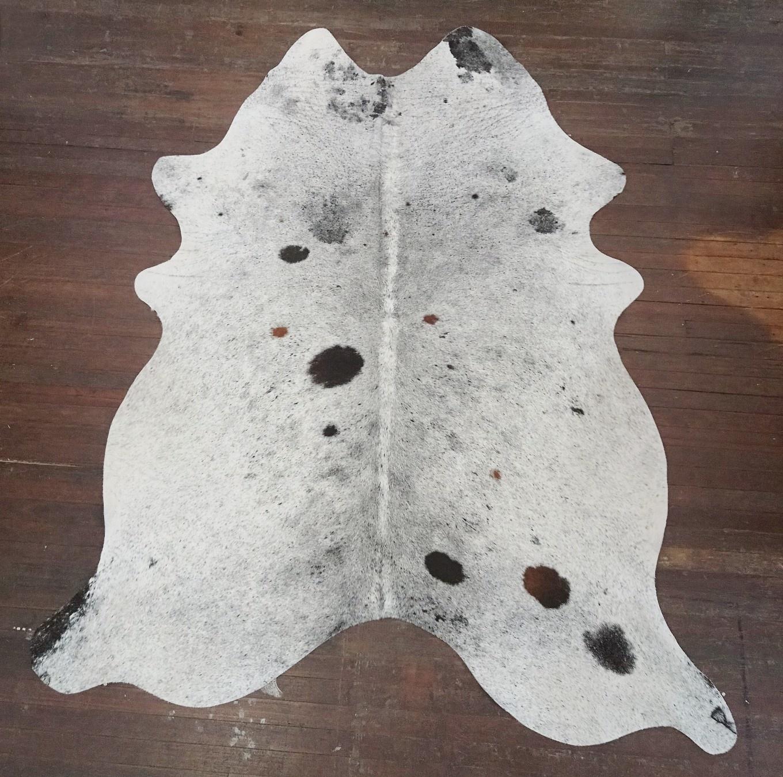 Salt & Pepper Spotted Cowhide Rug #2665