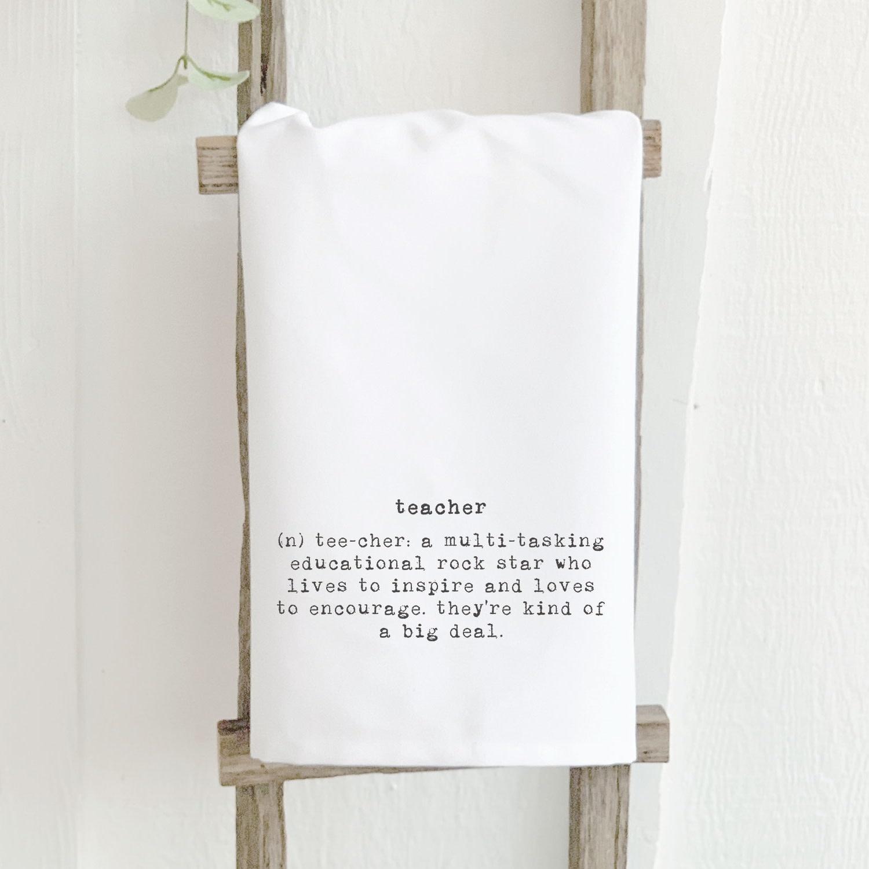 Teacher Definition Cotton Tea Towel