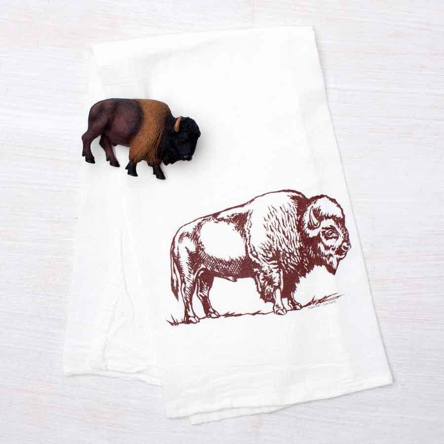 Bison Flour Sack Tea Towel
