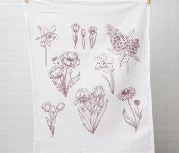 Flowers Flour Sack Tea Towel