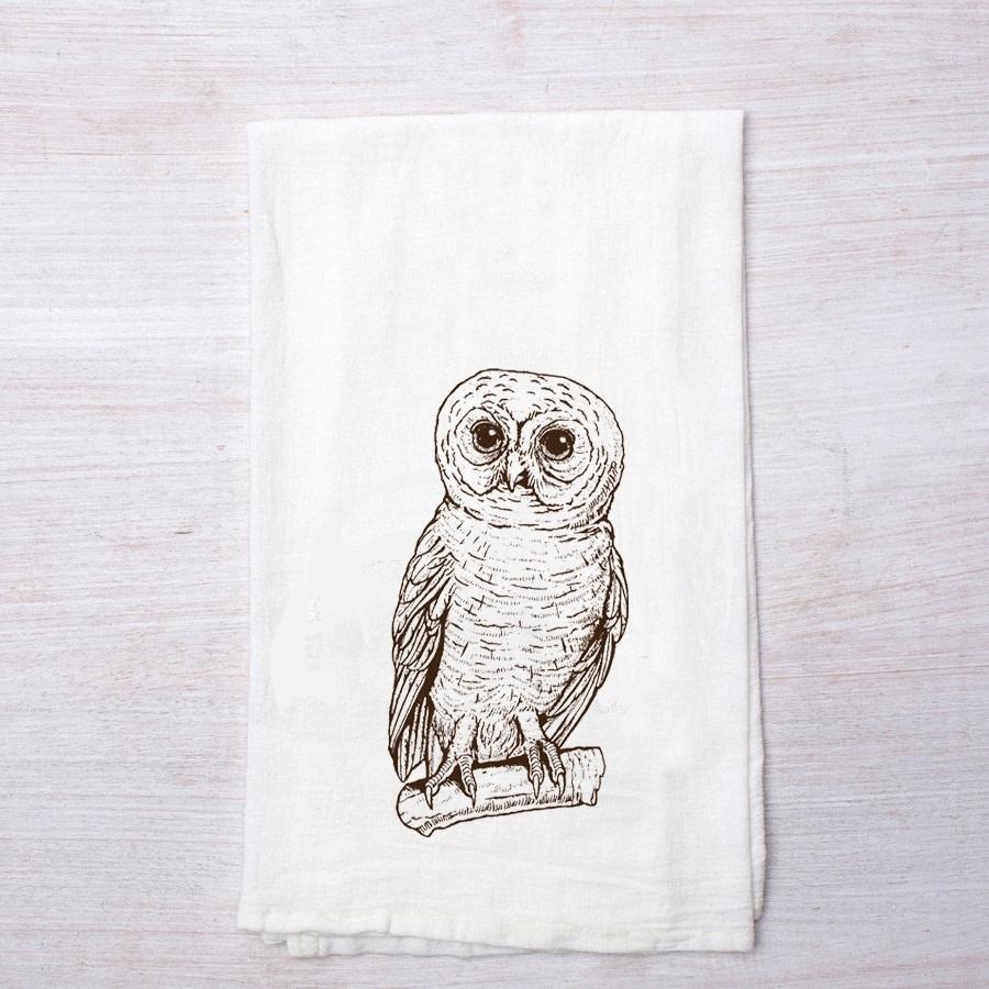 Owl Flour Sack Tea Towel