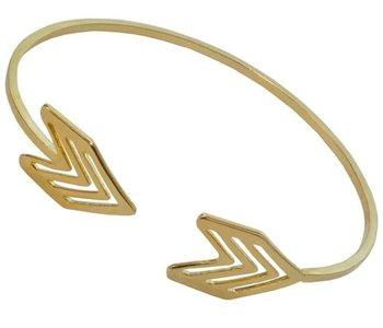 Golden Arrow Cuff Bracelet