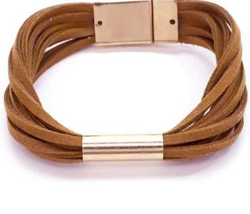 Suede Leather Wrap Bracelet