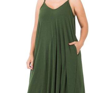 CURVY Green Cami Dress