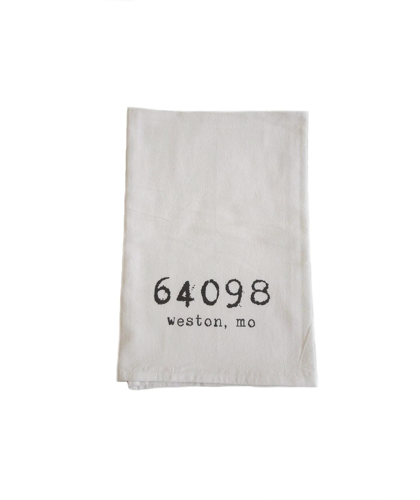 Weston, MO 64098 Tea Towel