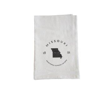 Missouri Badge & Motto Tea Towel