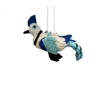 Blue Jay Ornament - Hand Made Felt