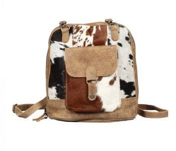 Leathered Pocket Backpack Bag