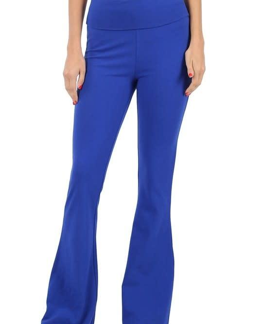 Blue Flare Bottom Yoga Pants