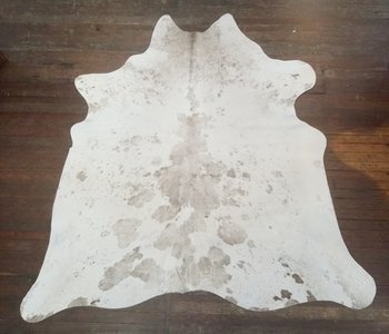Gray & White & Taupe Spotted Cowhide Rug #2712