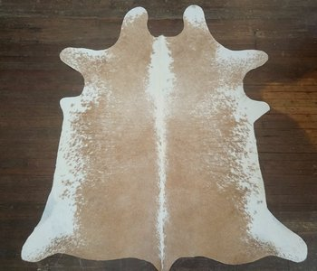 Spotted Palomino & White Cowhide Rug #2697