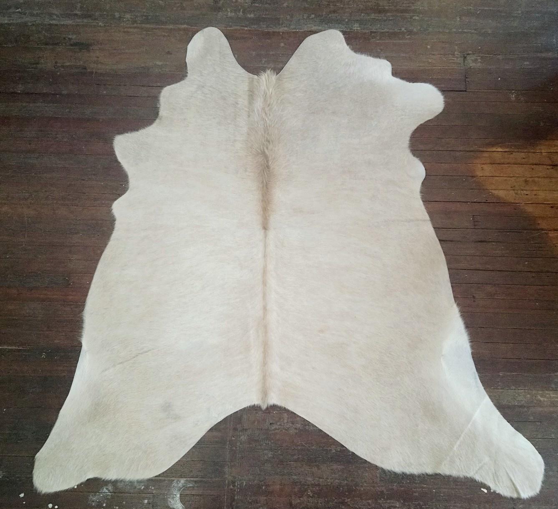 Pale Palomino & White Cowhide Rug #2724
