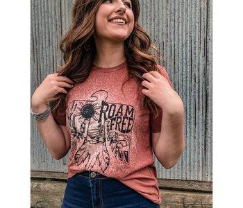 Roam Free Bleached T Shirt