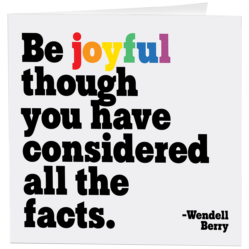 Be Joyful Inspirational Card