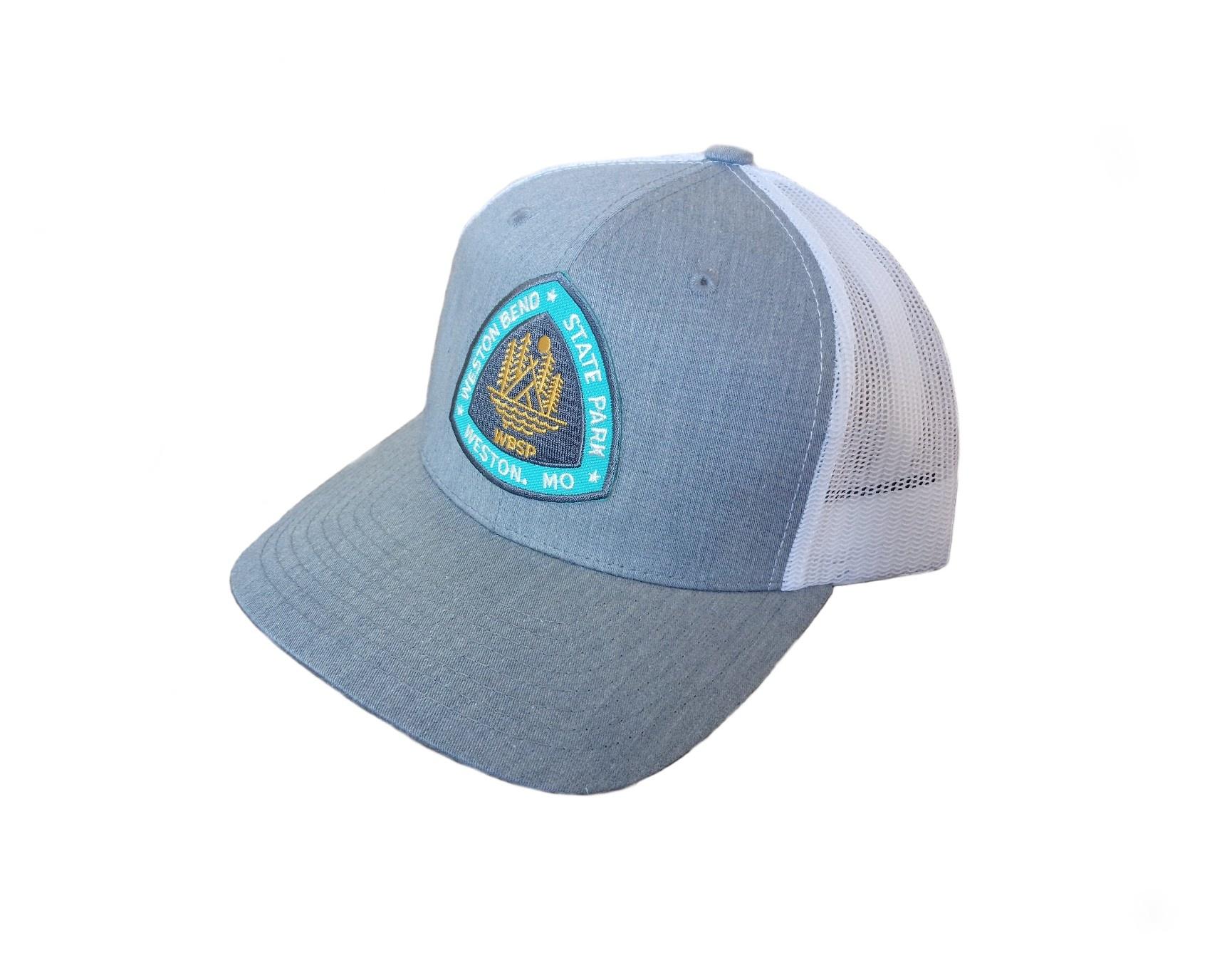 Weston Bend State Park Gray & White Hat