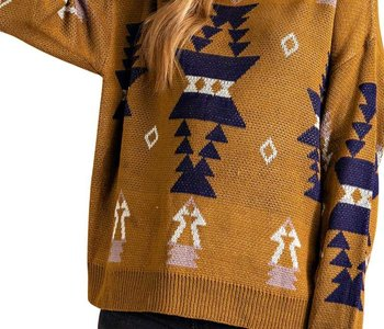 Mustard Aztec Loose Fit Sweater