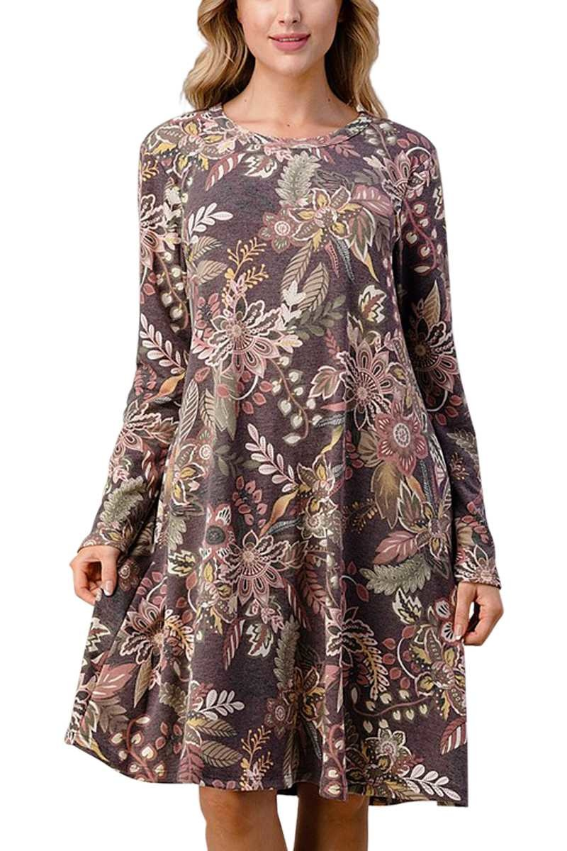 Merlot Paisley Dress