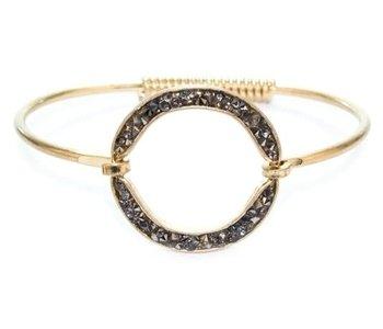 Gold Rhinestone Bangle Bracelet