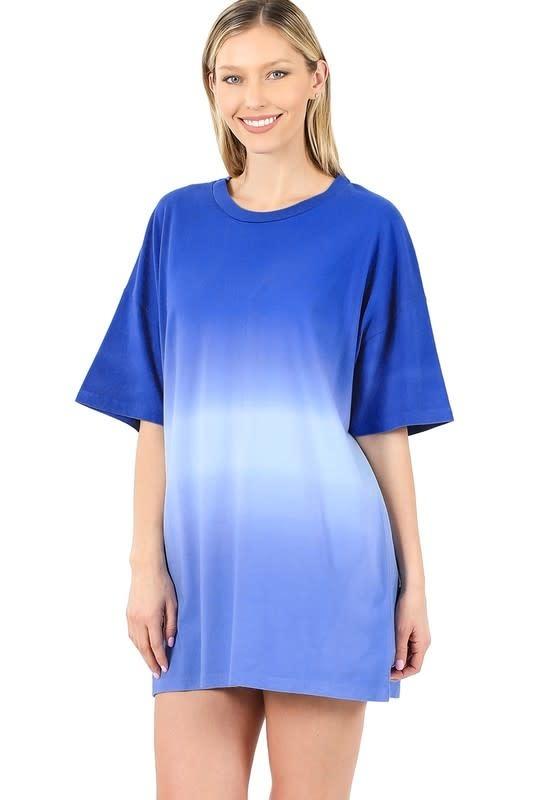 Bright Blue Dip Dye Top