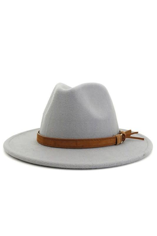 Light Gray Retro Panama Hat