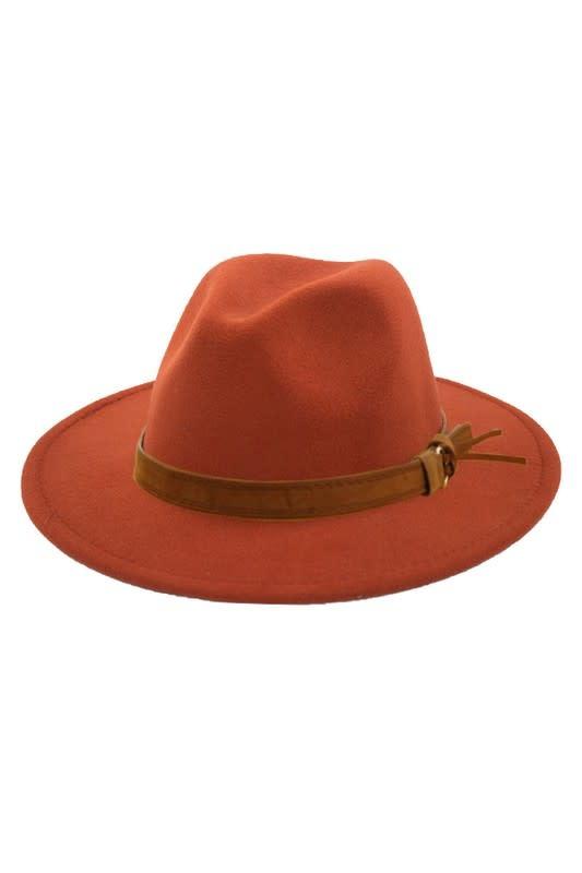 Rust Retro Panama Hat
