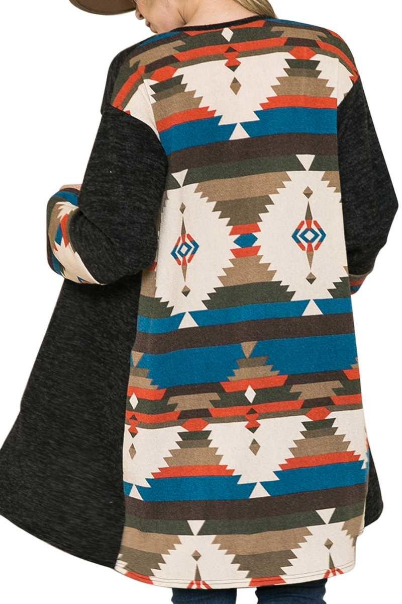 Aztec Contrast Cardigan