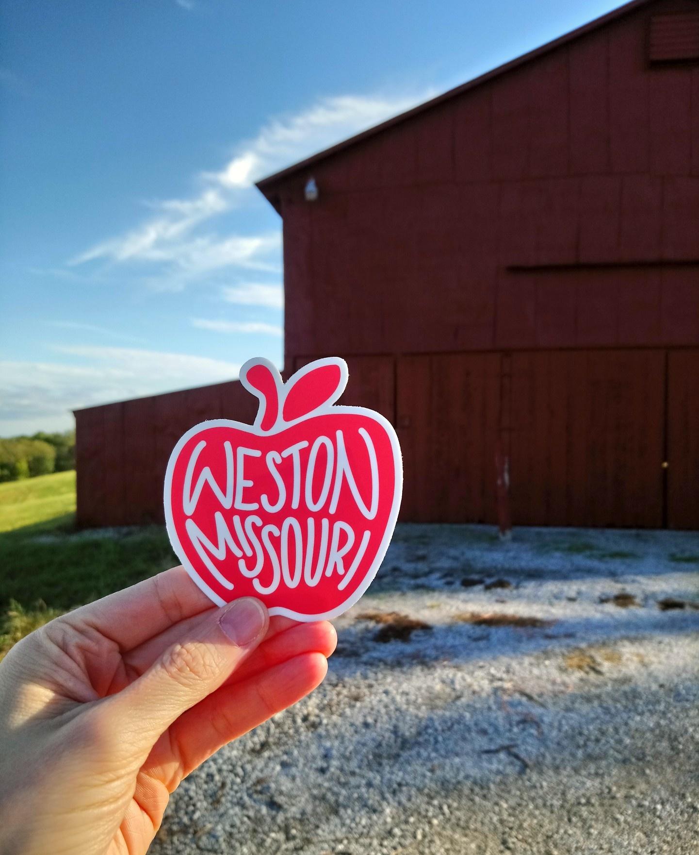 Weston Missouri Apple Red Sticker