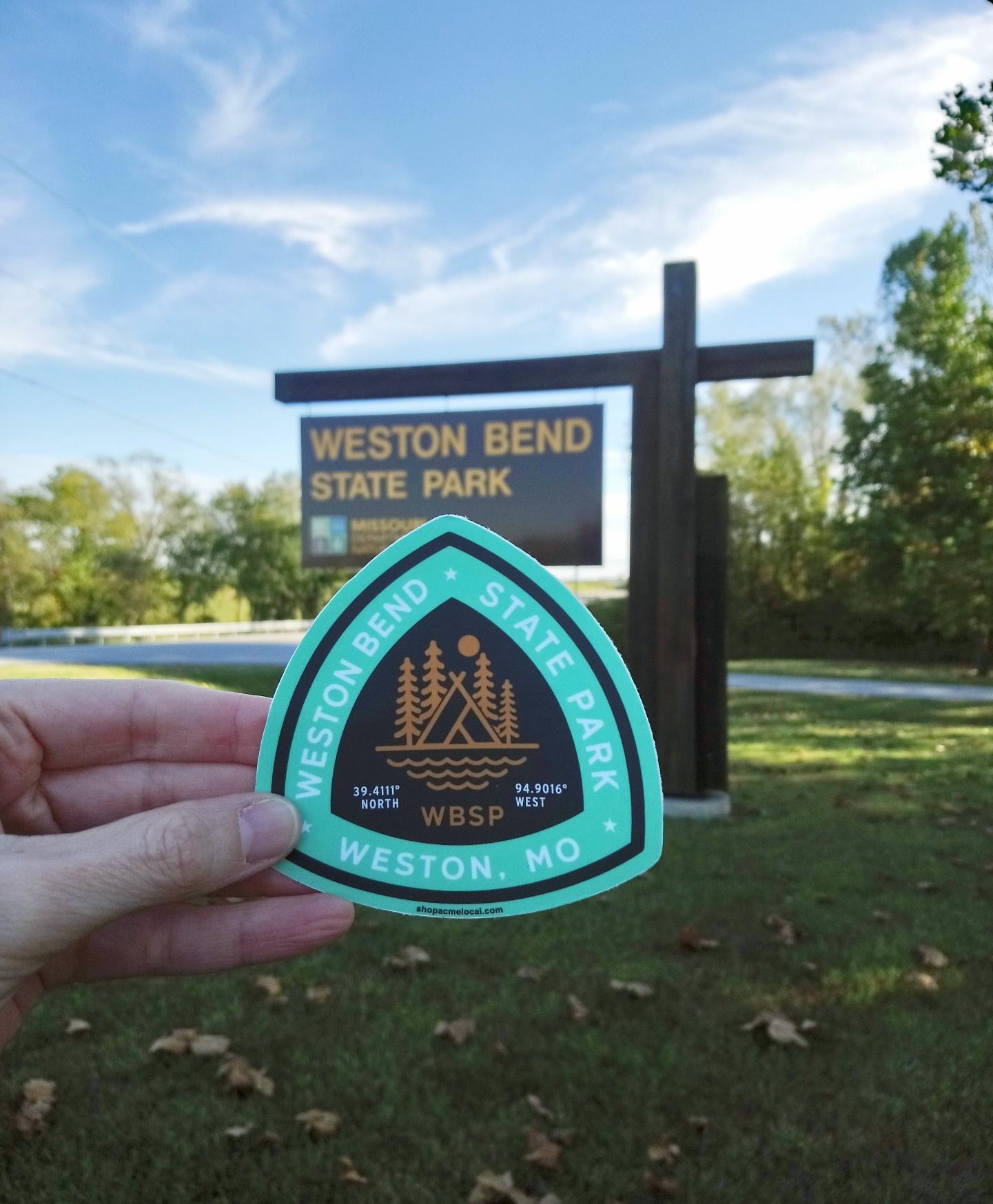Weston Bend State Park Sticker Teal