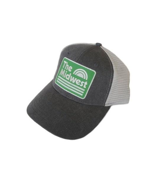 Midwest Green & Gray Trucker Snapback Hat