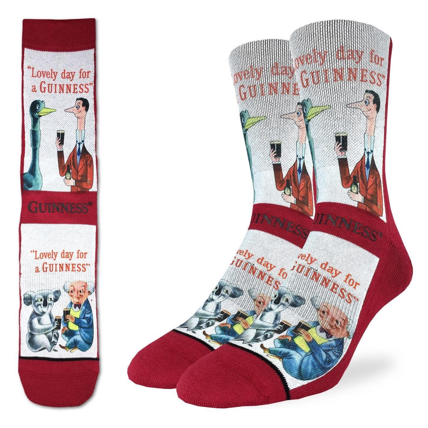 Lovely Day for a Guinness Men's Crew Socks