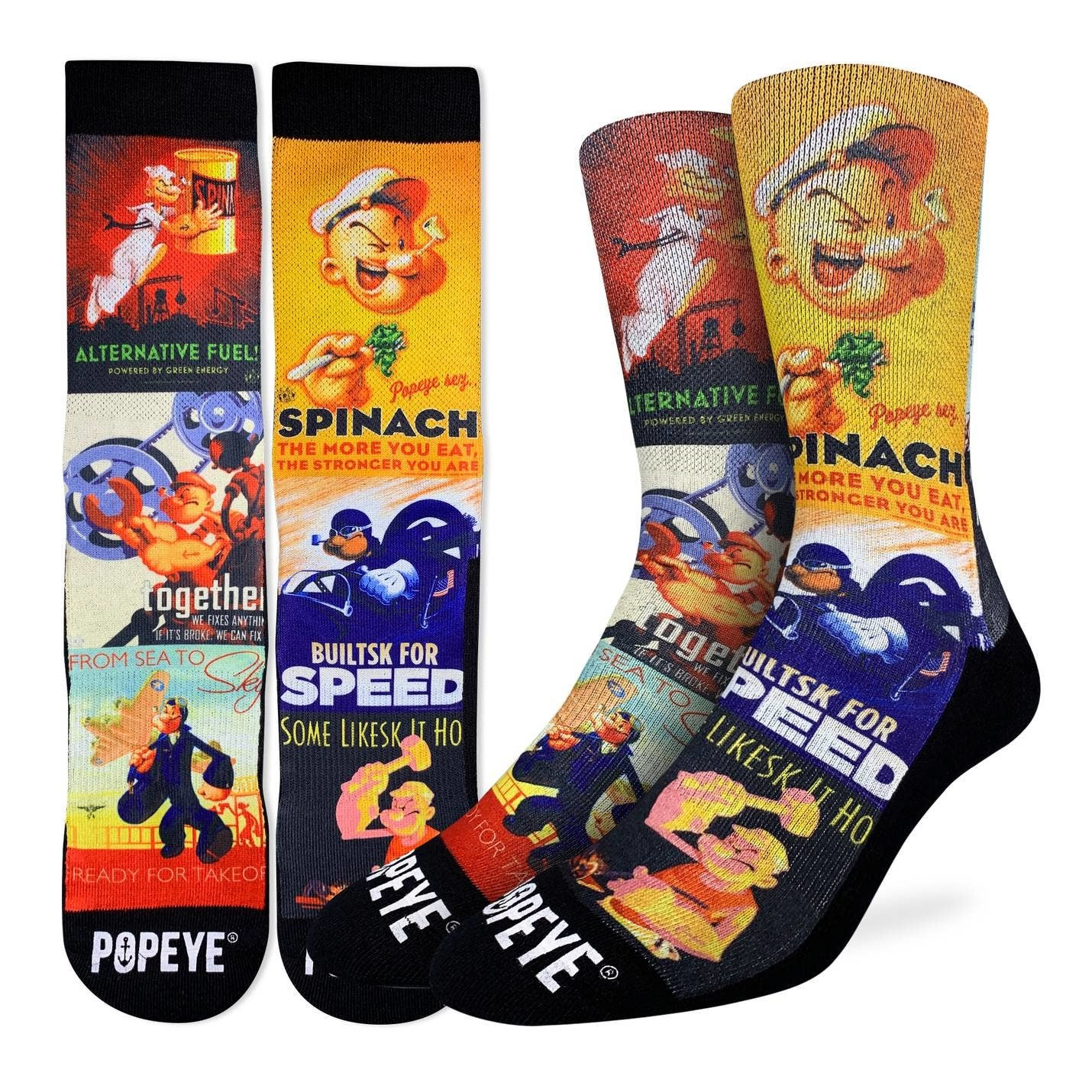 Popeye Posters Men's Crew Socks