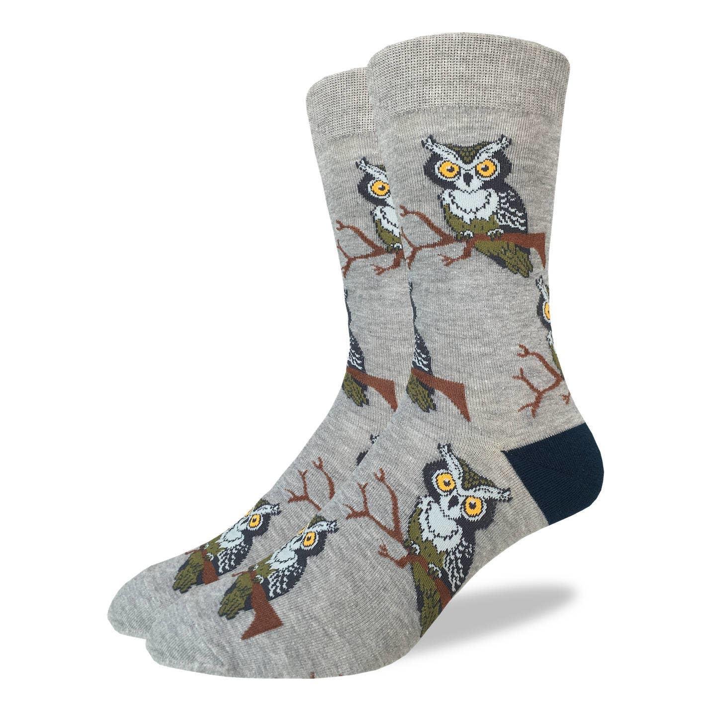 Perching Owl Men's Crew Socks