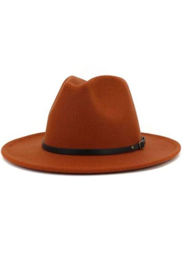 Retro Rust Panama Hat