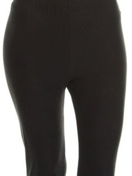 CURVY Solid Black Yoga Legging