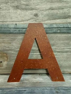Rusted Metal Letter A 12""